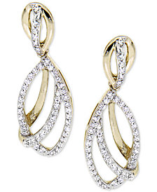 Wrapped in Love Diamond Drop Earrings (1/2 ct. t.w.) in 14k Gold, Created for Macy's