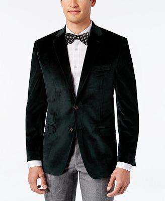 Lauren Ralph Lauren Men's Classic-Fit Velvet Sport Coat - Blazers ...