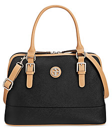 Giani Bernini Saffiano Dome Satchel, Created for Macy's