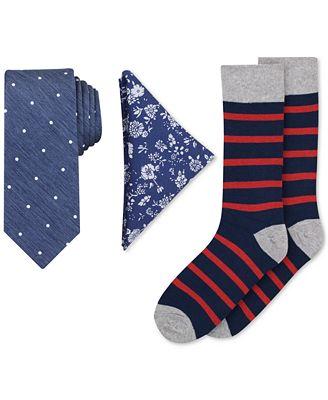 Bar Iii Men S Tie Pocket Square Socks Set Created For Macy