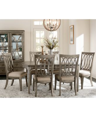 kelly ripa home hayley 7-pc. dining set (dining table & 6 side