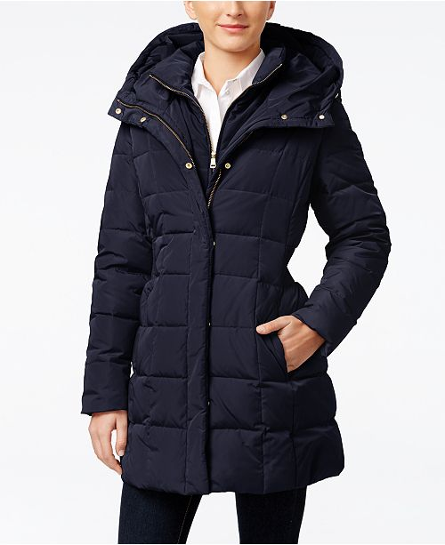 48caf8a225087 Cole Haan Hooded Down Puffer Coat & Reviews - Coats - Women - Macy's