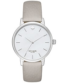Women's Metro Clocktower Gray Leather Strap Watch 34mm KSW1141