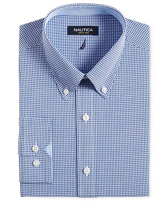 Nautica Royal Blue Gingham Dress Shirt - Dress Shirts - Men - Macy's