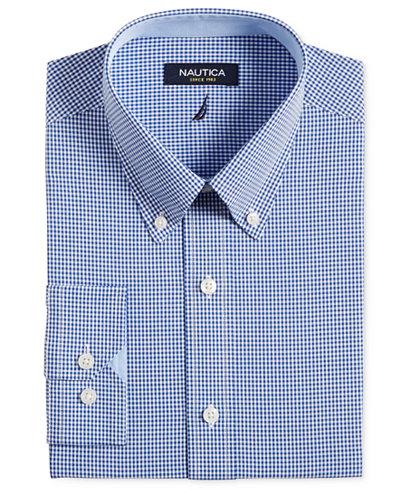 nautica royal blue gingham dress shirt dress shirts