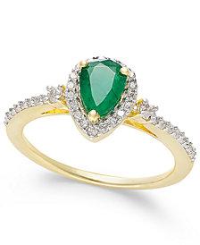 Ruby (3/4 ct. t.w.) and Diamond (1/4 ct. t.w.) Ring in 14k Rose Gold