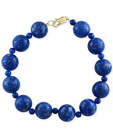 Effy Lapis Lazuli 4 12mm Beaded Bracelet In 14k Gold