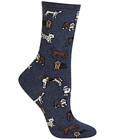 Women's Dogs Fashion Crew Socks