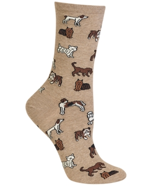 Image of Hot Sox Women's Dogs Fashion Crew Socks