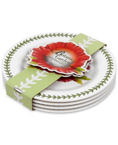 Portmeirion Dinnerware Set Of 4 Botanic Garden Canape Plates Of Portmeirion 4 Pc Botanic Garden Salad Dessert Plates