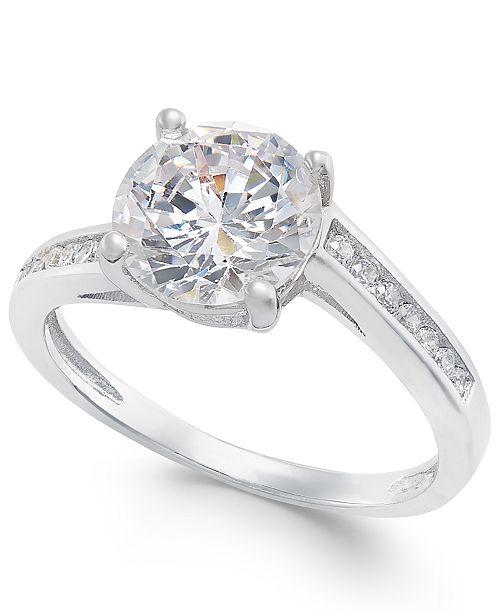Giani Bernini Cubic Zirconia Swirl Ring in Sterling Silver