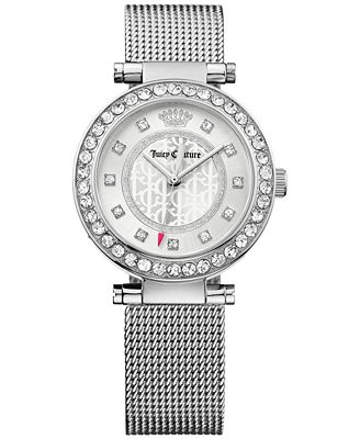 Juicy Couture Women's Cali Stainless Steel Mesh Bracelet Watch 34mm 1901372