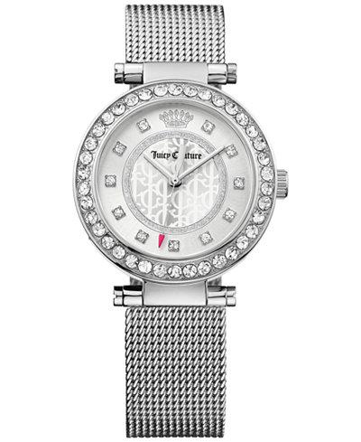 Juicy Couture Women's Cali Stainless Steel Mesh Bracelet Watch 34mm 1901372