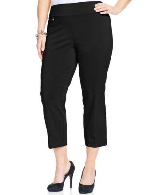 Plus Size Black Capri Pants S6g66WcU