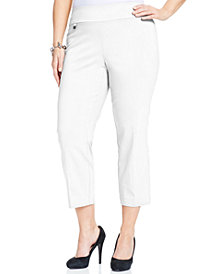 Alfani Petite Plus Size Pull-On Capri Pants, Created for Macy's
