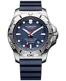 Men's Swiss I.N.O.X. Professional Diver Blue Rubber Strap Watch 45mm 241734.1