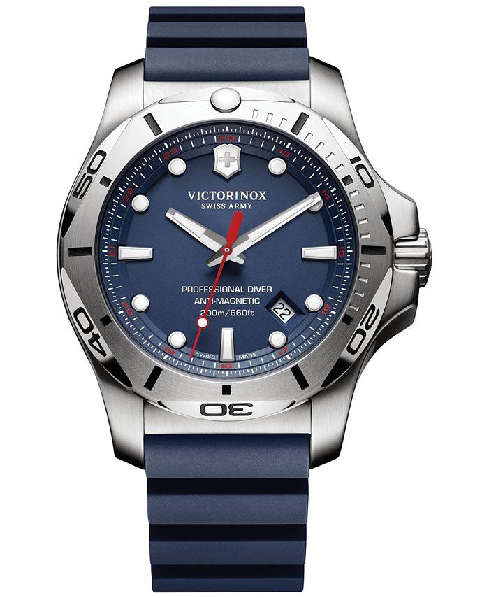 Victorinox Swiss Army - Men's Swiss I.N.O.X. Professional Diver Blue Rubber Strap Watch 45mm 241734.1