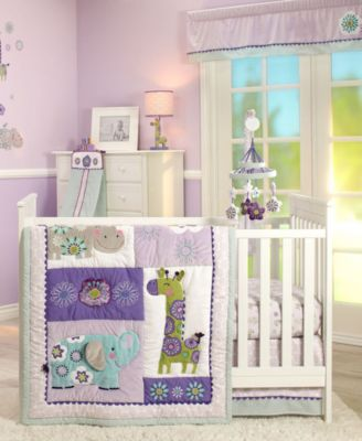 Zoo Collection 4 Piece Crib Bedding Set