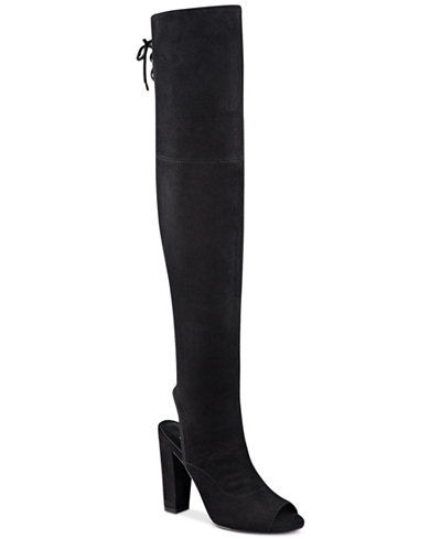 GUESS Women's Galle Over-The-Knee Peep-Toe Boots - Boots - Shoes ...