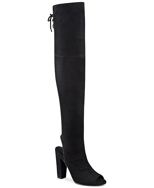 b104db65c GUESS Women s Galle Over-The-Knee Peep-Toe Boots   Reviews ...
