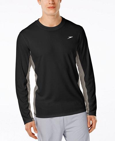Speedo Men's Longview Crew-Neck Swim Shirt