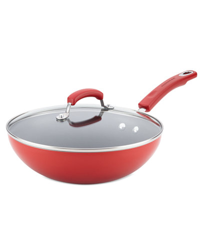 Rachael Ray Hard Enamel 11 Quot Covered Stir Fry Cookware