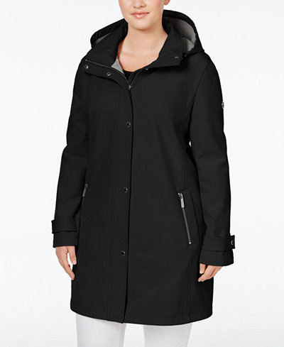 Calvin Klein Plus Size Stretch Softshell Raincoat