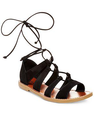 Steve Madden Women's Sanndee Lace-Up Sandals