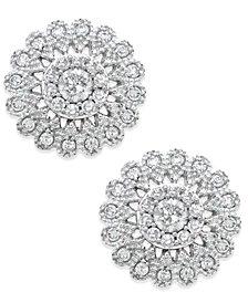 Diamond Flower Stud Earrings (1/2 ct. t.w.) in 14k White Gold