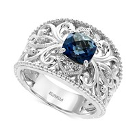 EFFY London Blue Topaz (1-3/4 ct. t.w.) & White Sapphire Ring (Sterling Silver)