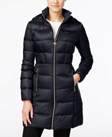MICHAEL Michael Kors Petite Hooded Puffer Coat, Created for Macy's