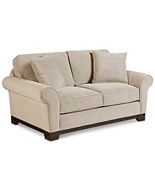 "CLOSEOUT! Medland 69"" Fabric Roll Arm Loveseat with 2  Pillows, Created for Macy's"