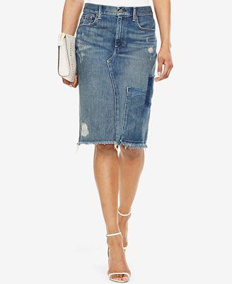 Polo Ralph Lauren Denim Pencil Skirt - Skirts - Women - Macy's