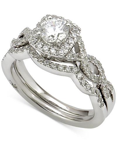 Marchesa Certified Diamond Bridal Set (1 ct. t.w.) in 18k White Gold