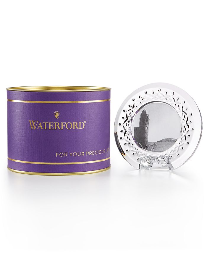 """Waterford - Giftology Lismore Collection Crystal Small Round 3"""" Frame"""