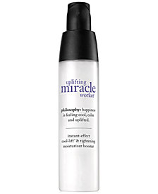 philosophy uplifting miracle worker instant effect cool-lift & tightening moisturizer booster, 30ml/1oz