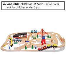 CLOSEOUT! Melissa & Doug Wooden Railway Set