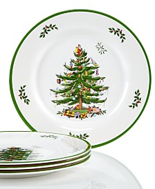 Spode Christmas Tree Melamine Dinner Plate, Set of 4