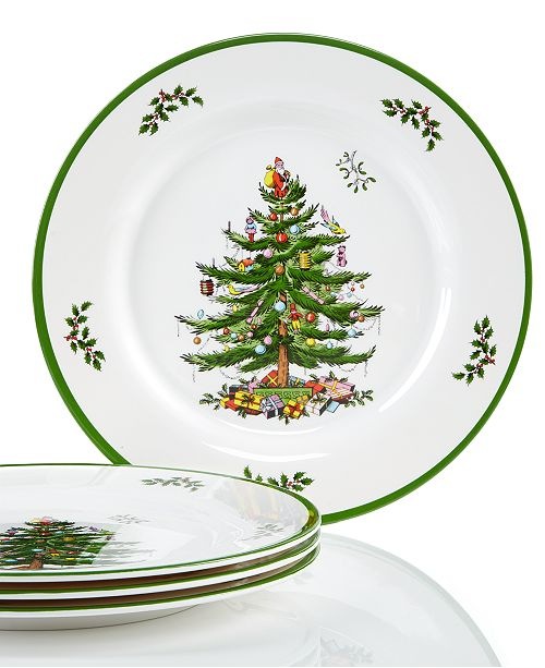 Spode Christmas Tree Set/4 Melamine Dinner Plate - Fine China - Macy's