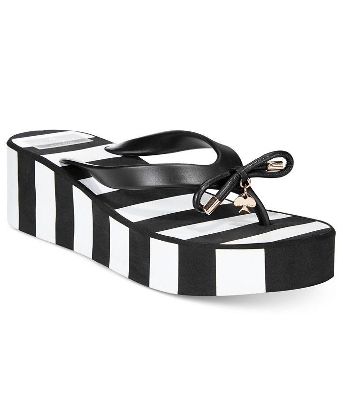 kate spade new york - Rhett Striped Wedge Sandals