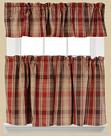Saturday Knight Cooper Plaid Valance and Tier Pair Collection