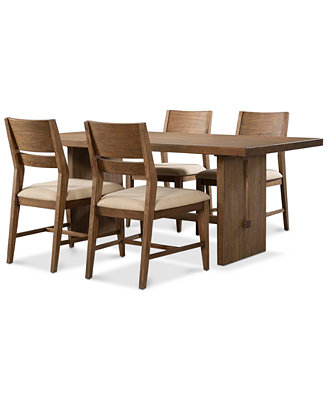 Athena 5 pc dining set dining table 4 side chairs for Macys dining table
