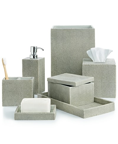 Hotel Collection Shagreen Bath Accessories, Created for Macy's