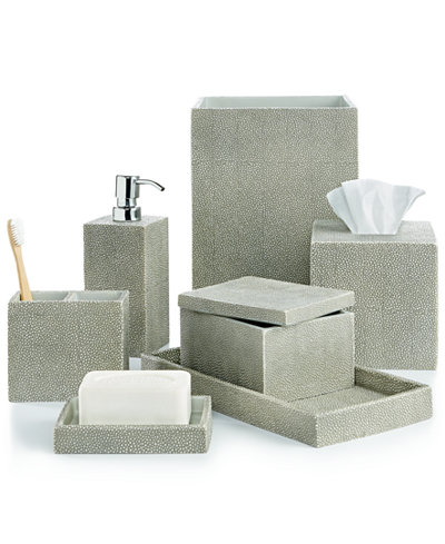 Closeout Hotel Collection Shagreen Bath Accessories