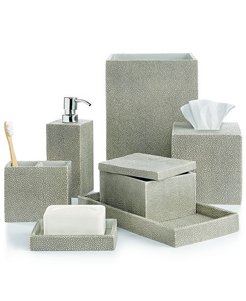 Hotel Collection CLOSEOUT! Shagreen Bath Accessories, Created for ...