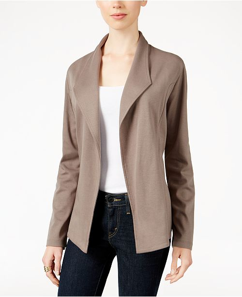 7a169797a339c Style & Co Knit Blazer, Created for Macy's & Reviews - Jackets ...