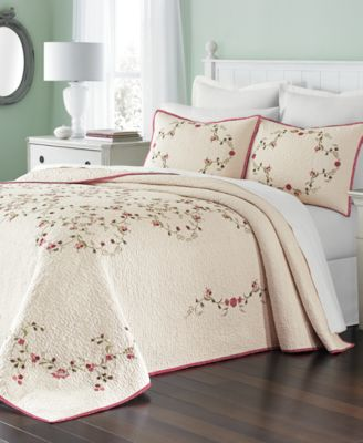Westminster Vines Cotton Twin Bedspread, Created for Macy's