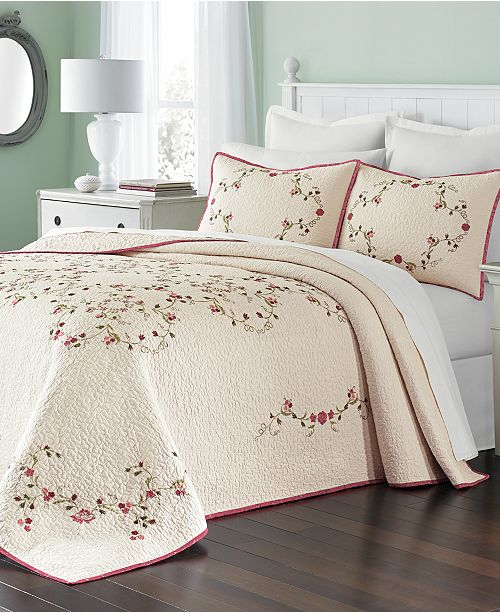 Martha Stewart Collection Westminster Vines Bedspread, Created for Macy's