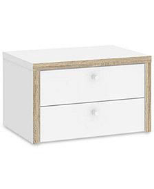 Reneer 2 Drawer Desk Hutch, Quick Ship