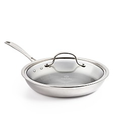 """Calphalon Tri-Ply 10"""" Omelette Pan with Lid"""